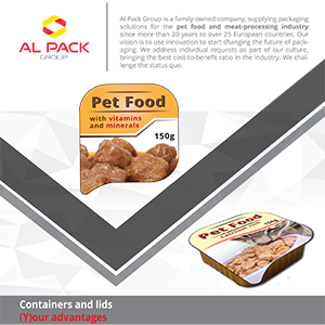Al Pack flyer pet food